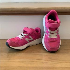Hot Pink Girl's New Balance Sneakers
